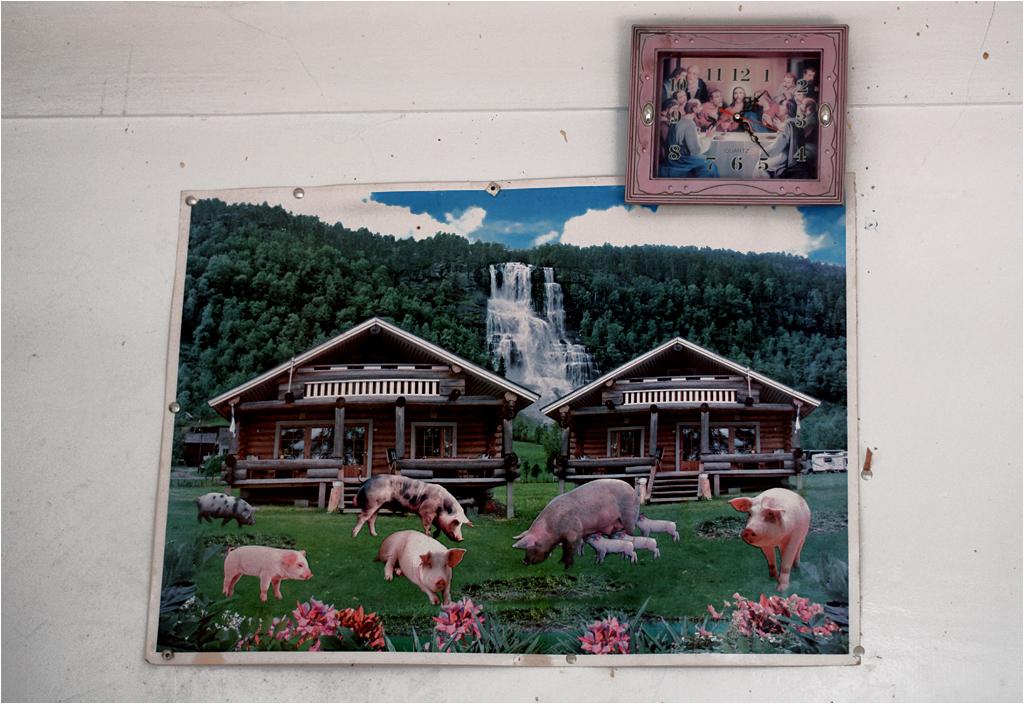 Dzieło sztuki (mięsa) u innego rzeźnika. Obowiązkowy religijny akcent