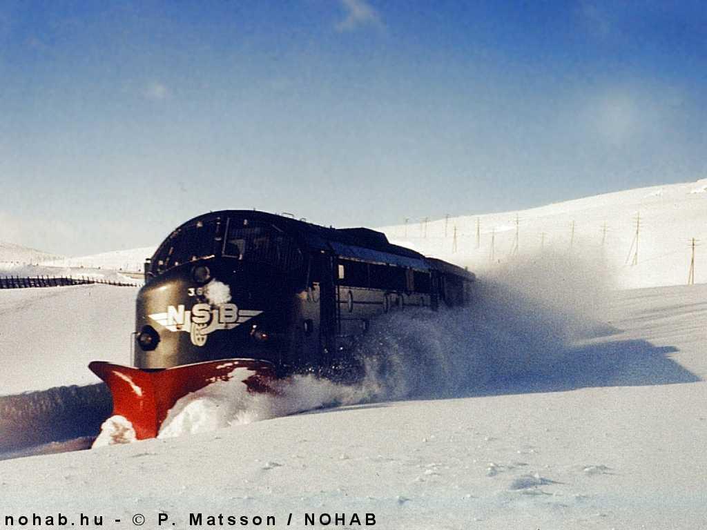 Lata 50. XX wieku na Bergensbanen - Nohaby Di3 przejęły obsługę linii. Fot. P. Matsson.