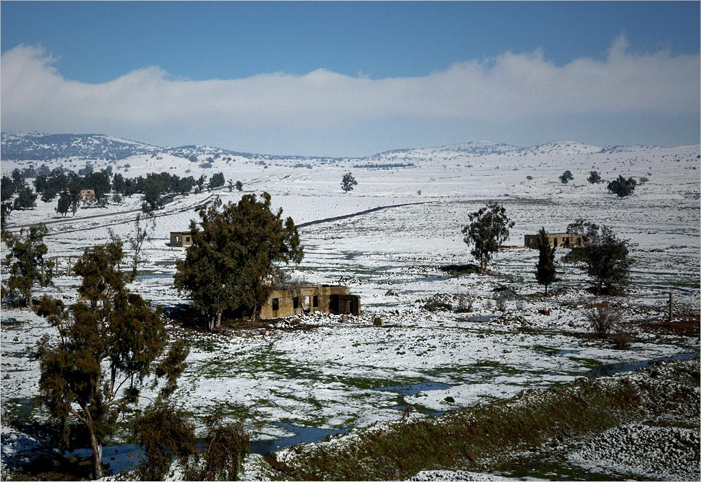 ...na pozostałości wioski Husniya