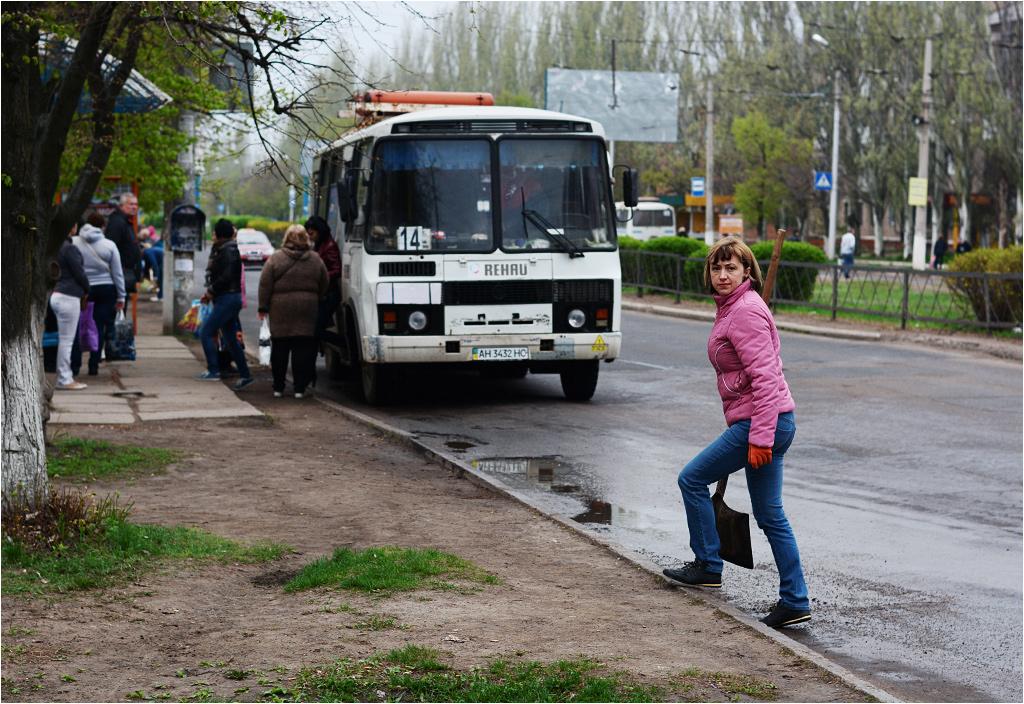 Czyn społeczny na ulicach Gorłówki