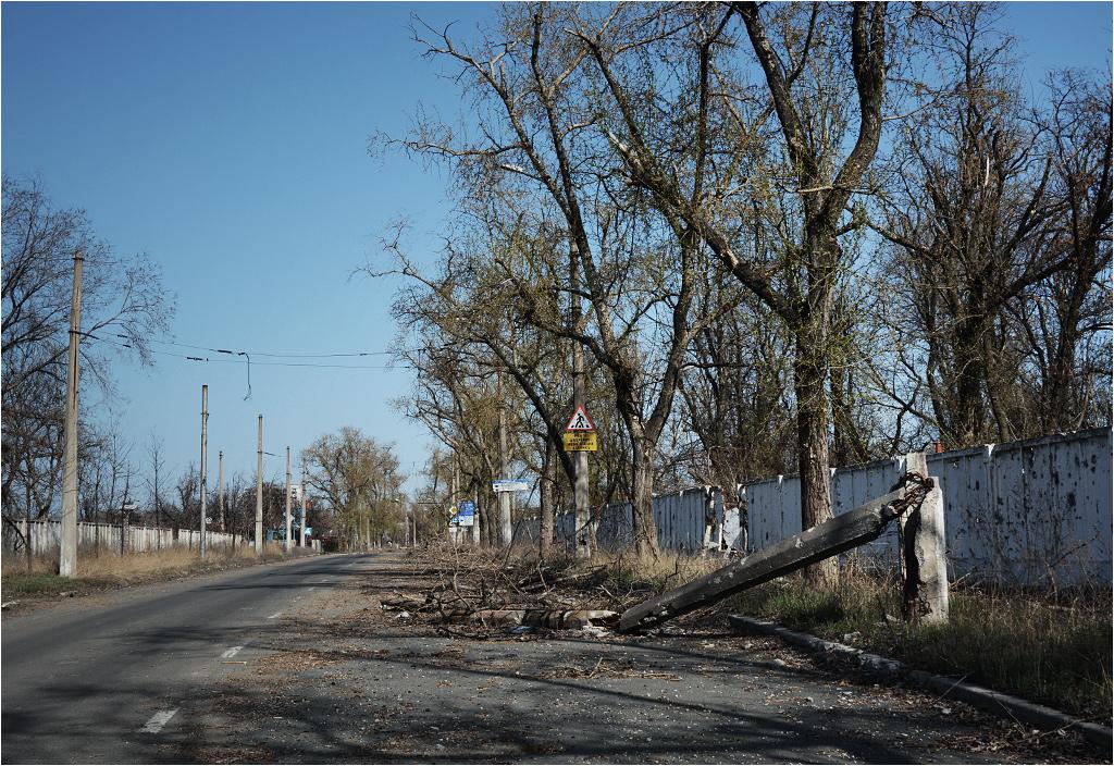Ulica Stratonautów - widok w stronę wschodnią