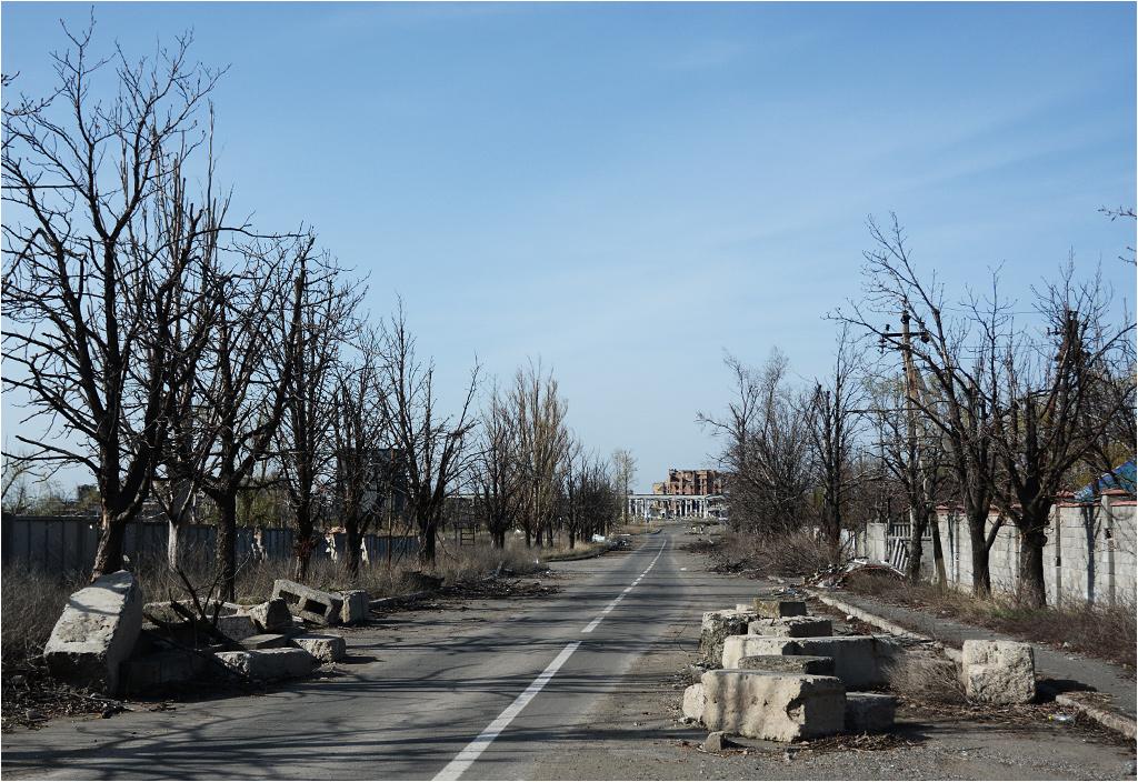 Pozostałości po ulicznej barykadzie