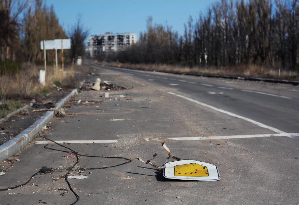 Postapokaliptyczny obraz ulicy Startowej