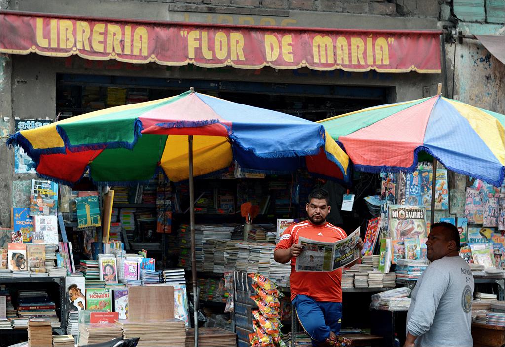 Księgarnia Kwiat Marii na ulicy peruwiańskiego Trujillo. W sprzedaży niestety głównie kolorowe czasopisma...