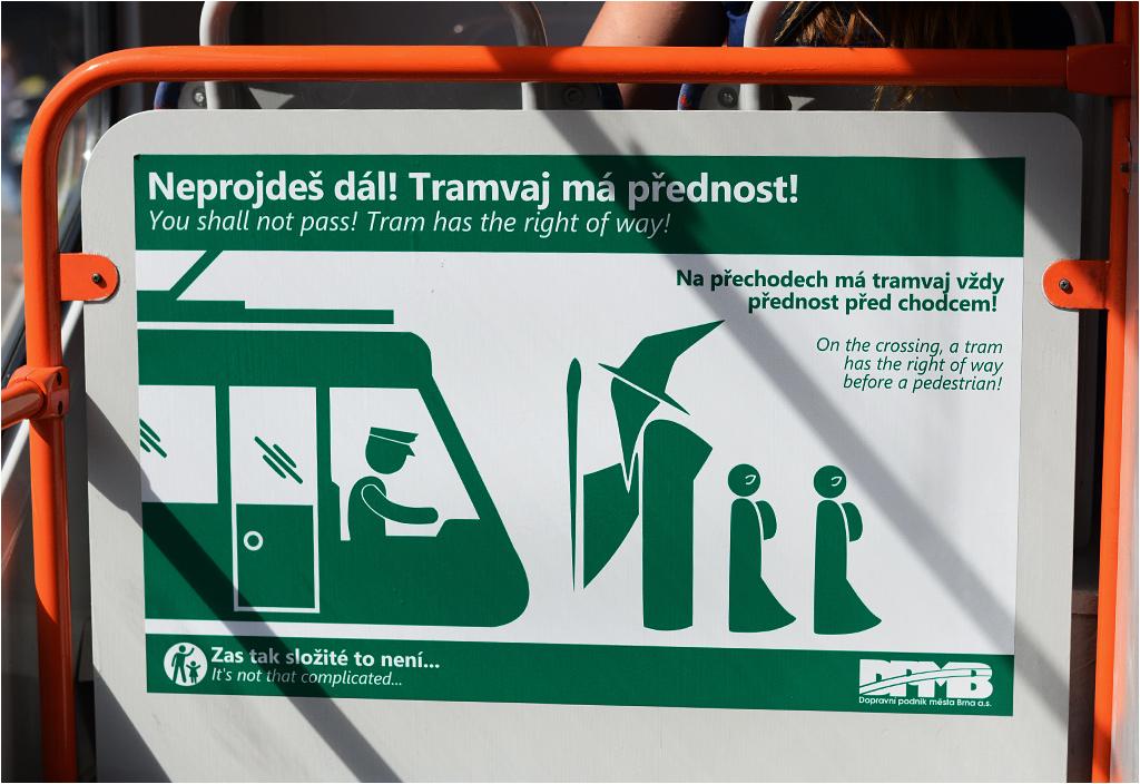 """""""You shall not pass! Tramwaj ma pierwszeństwo!"""""""