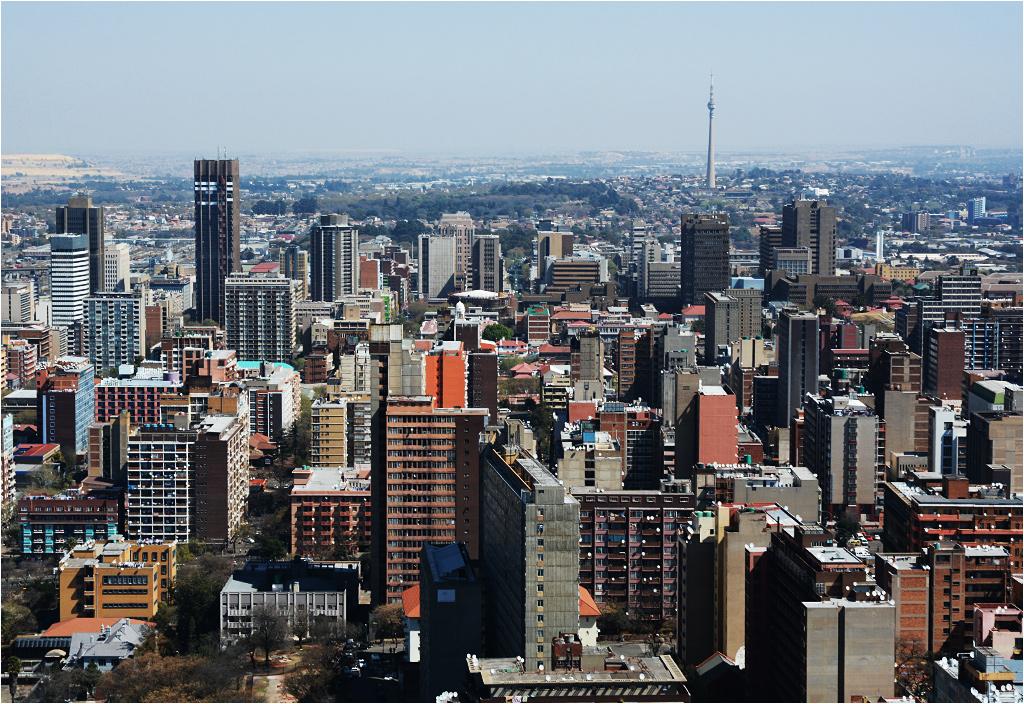 Johannesburg, owiana złą sławą dzielnica Hillbrow, fragment centrum miasta