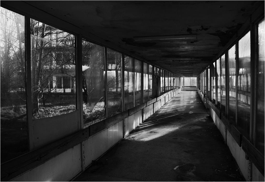 Całość kompleksu łączyły futurystyczne szklane korytarze, dzięki którym można było pójść na stołówkę w klapkach, nie będąc narażonym na kapryśną pogodę