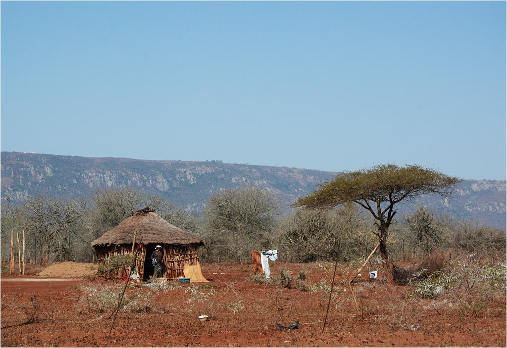 Krajobraz Suazi - gdzieś w okolicach międzynarodowego lotniska im. króla Mswatiego III