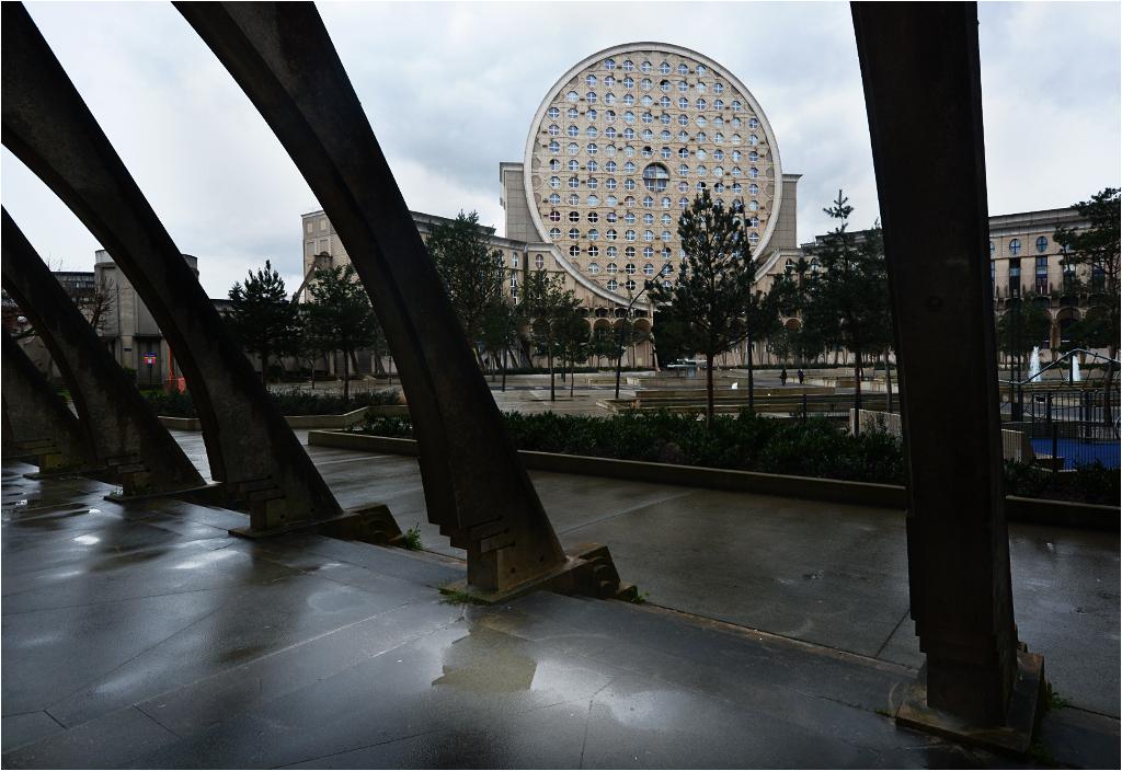 Arena Picassa w deszczową pogodę