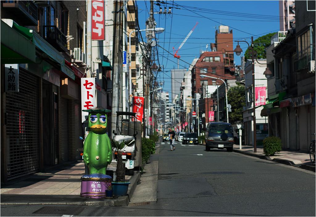 Mieszkańcy, którzy lubią swoje miasto, często urozmaicają ulice różnymi przyjaznymi oku detalami. W tokijskiej dzielnicy Kappabashi można spotkać wiele figurek wodnych duszków kappa