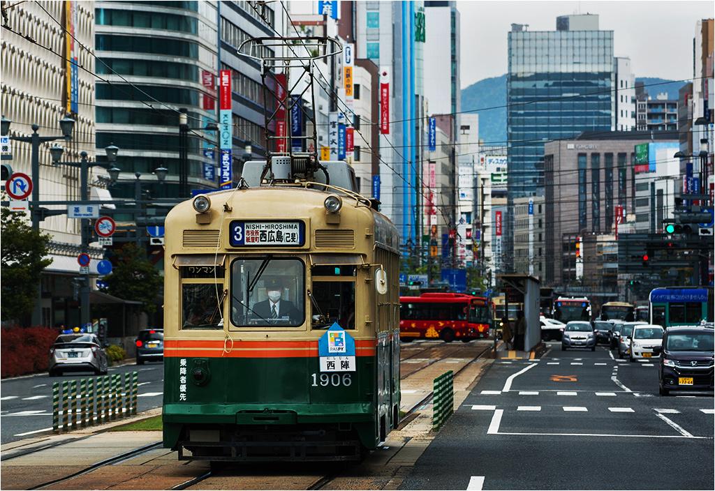 Ten wagon został wyprodukowany w 1957 roku. Sprowadzono go do Hiroszimy z Kioto w 1978 roku