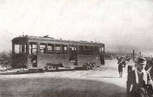 Tramwaj nr 651 w 1945 roku
