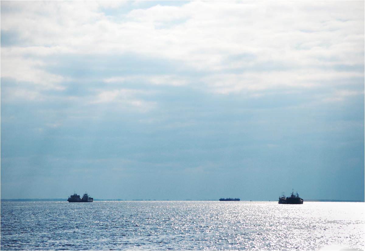 Ob momentami przypomina raczej morze, niż rzekę. To zdjęcie nie jest zrobione z brzegu, a z pokładu promu