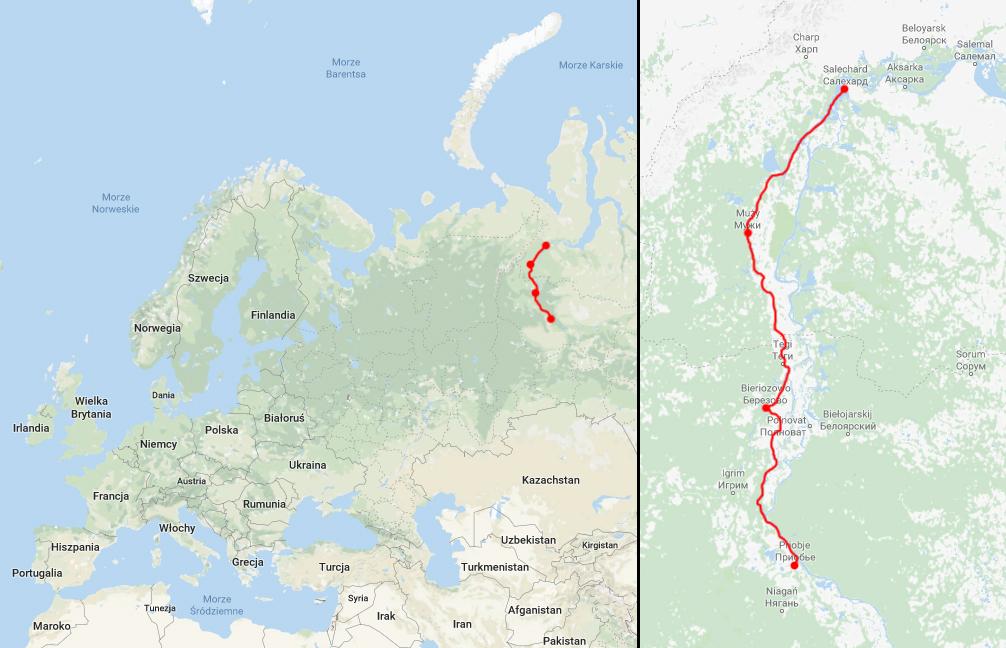 Opisywana trasa