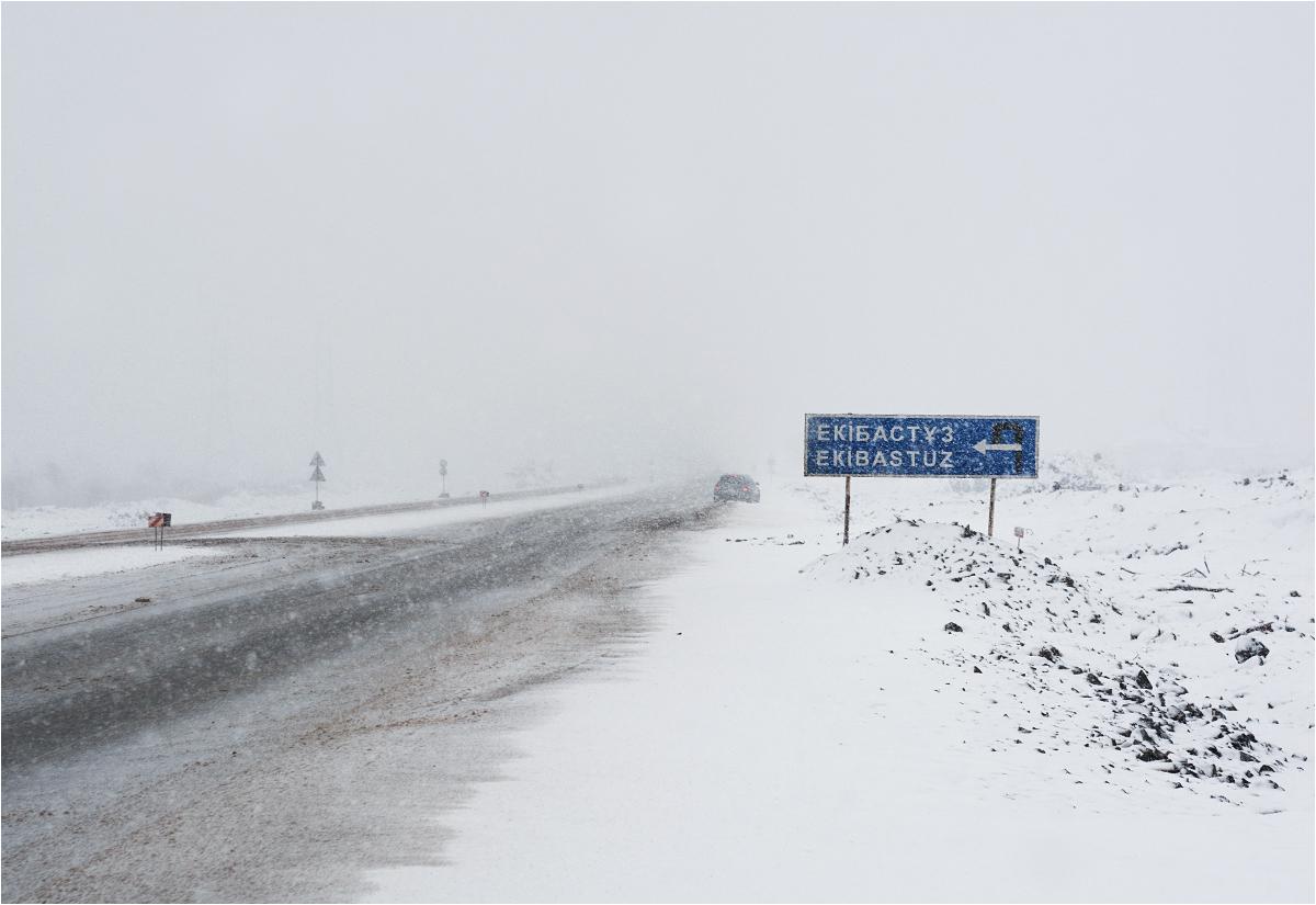 Łapiąc stopa na kazachskiej autostradzie
