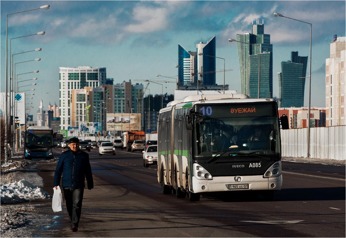 Jedyną formą transportu miejskiego w Astanie są dziś autobusy. Za parę lat w stolicy będzie kursował tramwaj na estakadzie