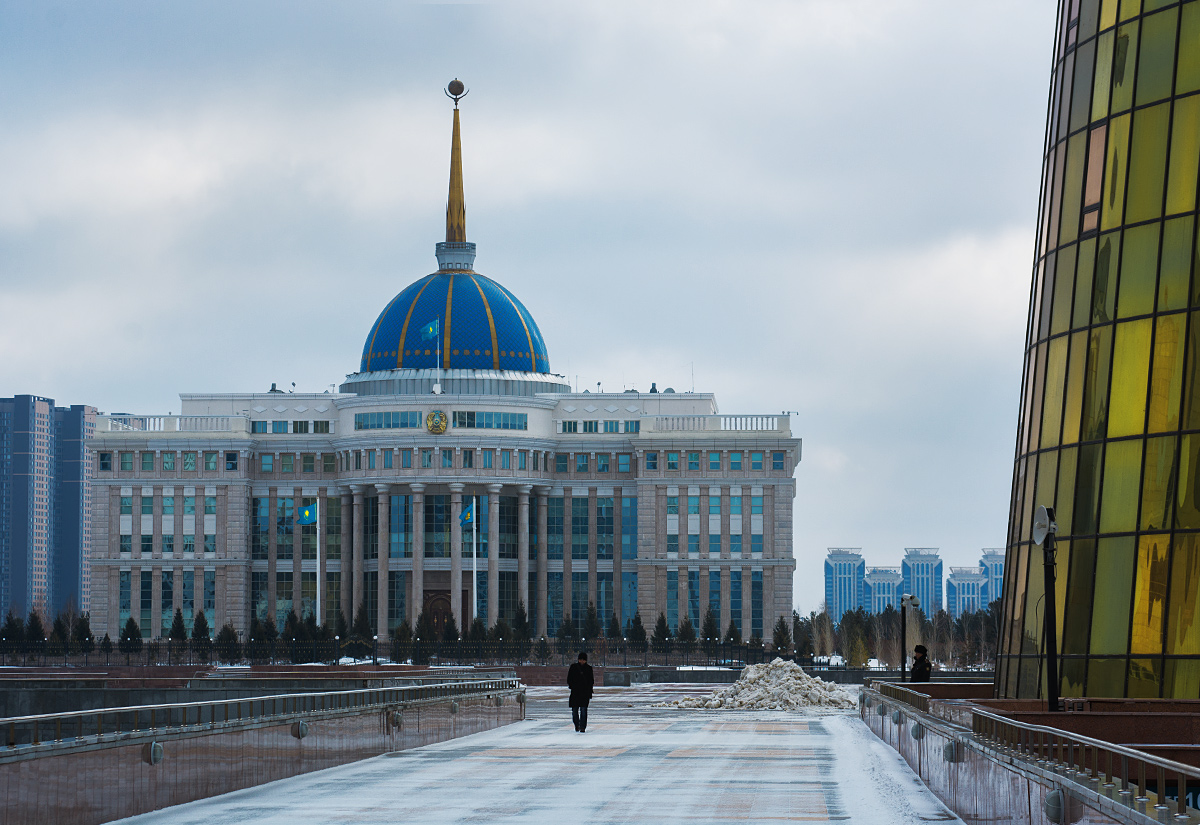 Pałac prezydencki Ak-Orda. Główny ośrodek władzy Kazachstanu