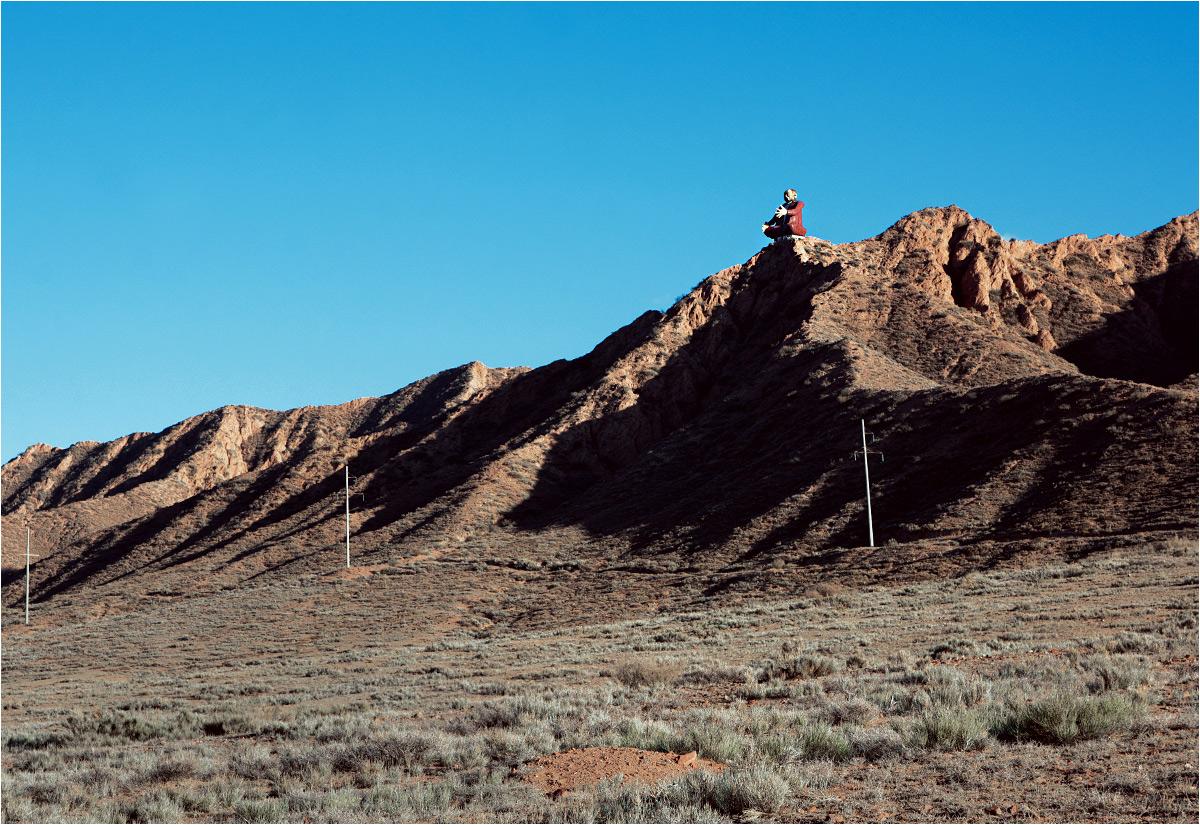 Karałajew patrzy też na ruiny z wysokości