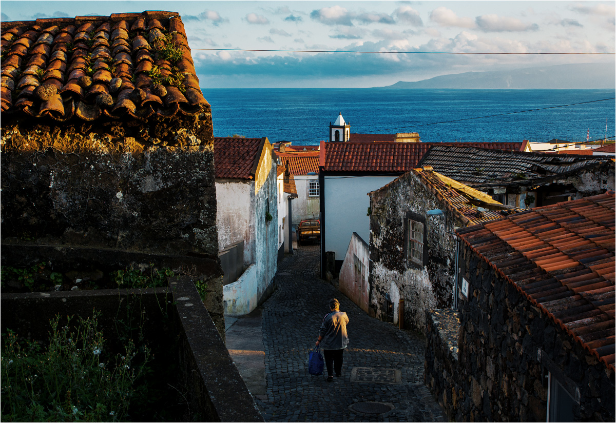 W centrum Vila do Corvo - jedynej miejscowości na wyspie