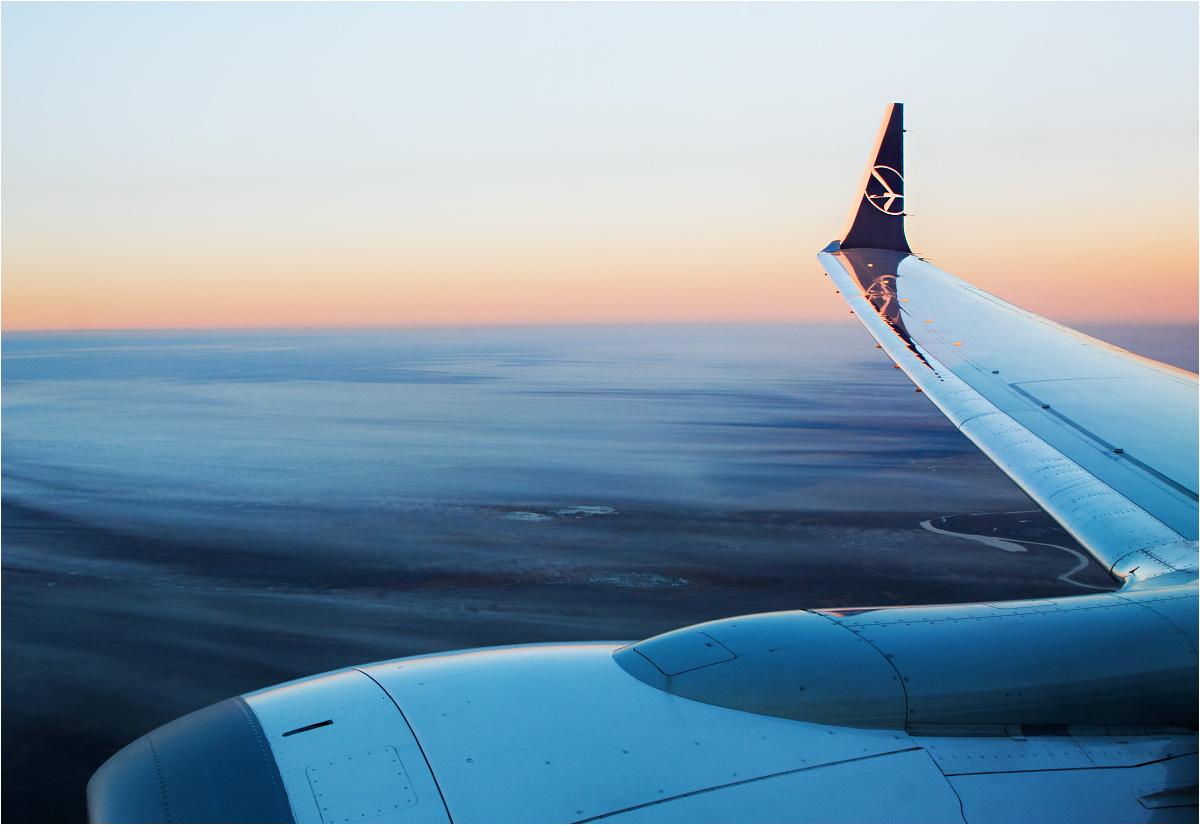 Piękny widok z (obecnie uziemionego) Boeinga 737 MAX LOTu