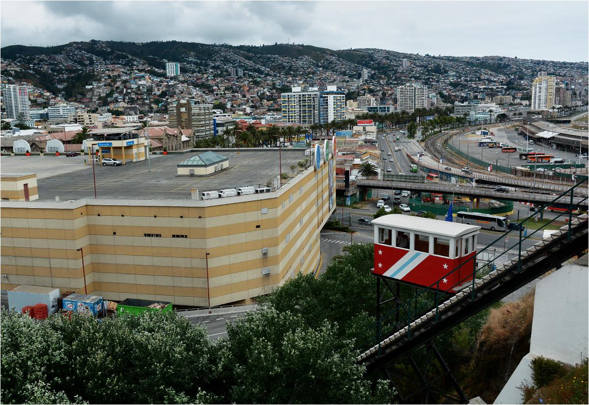 Dziś dolna stacja kolejki Barón mieści się na tyłach wielkiego centrum handlowego