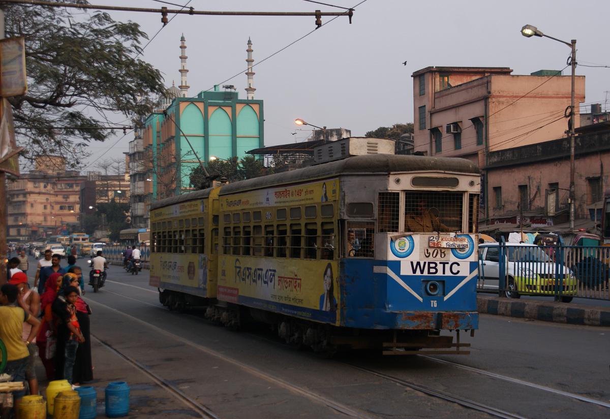 Tramwaj na ulicach Kalkuty