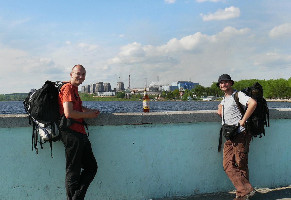 Tomek i Marcin Stiasny (słynny Straszny) w Krasnoturinsku na Uralu