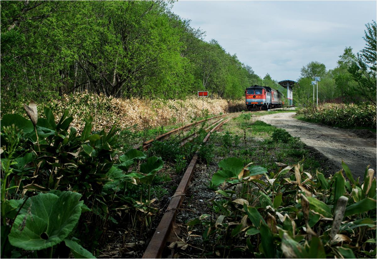 Pociąg relacji Jużnosachalińsk-Nowodierewienskaja dojechał do ostatniego przystanku. Dalej nie pojedzie, bo stara japońska linia, łącząca wschodnie i zachodnie wybrzeże wyspy Sachalin, została rozebrana w 1995 roku