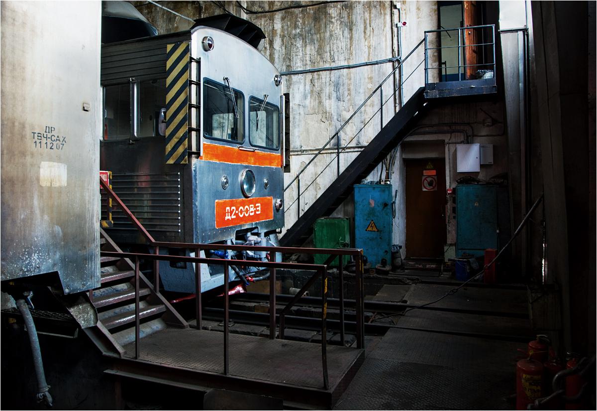 Po wycofaniu ze szlaków, składy zostały odstawione w jużnosachalińskiej lokomotywowni