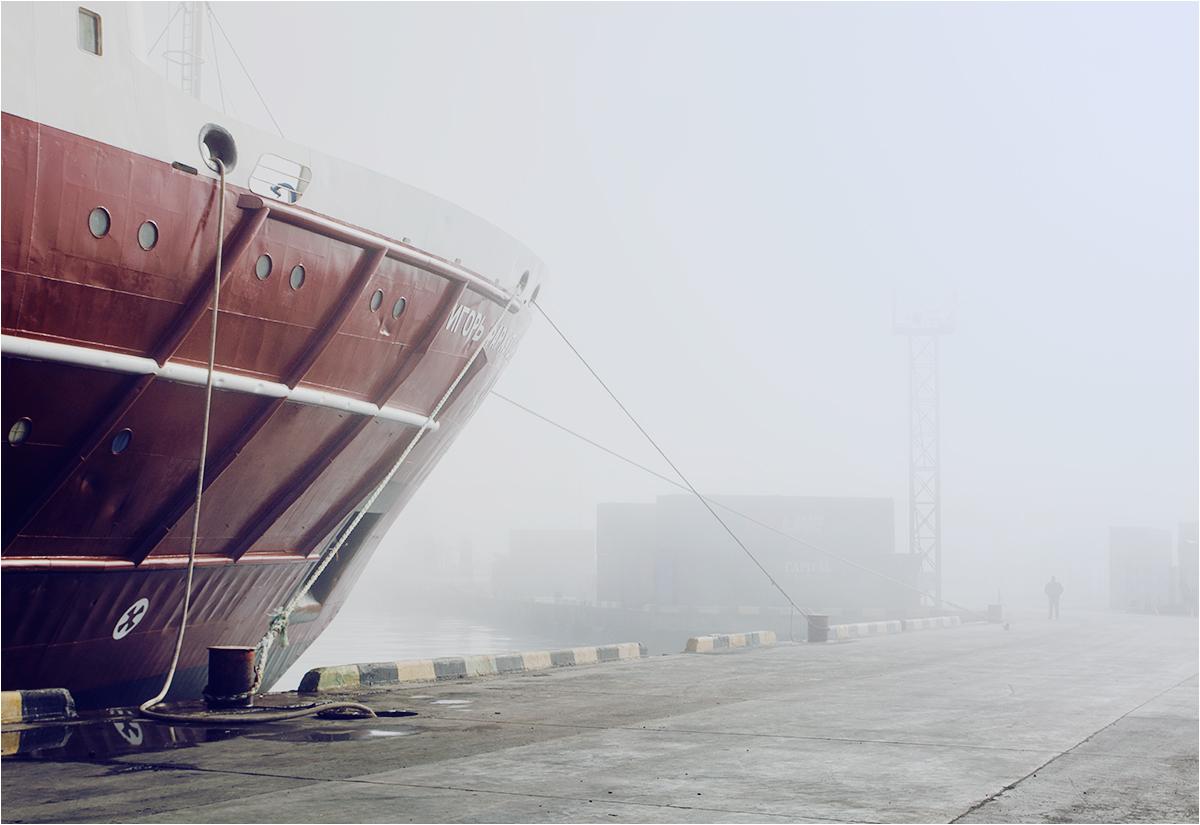 Pierwszy widok Jużno-Kurylska. Statek Igor Farchutdinow przybył do portu
