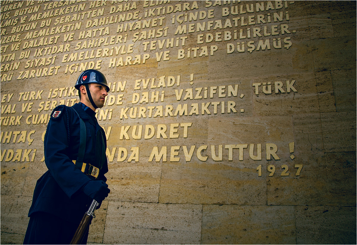 Na warcie ku czci Atatürka