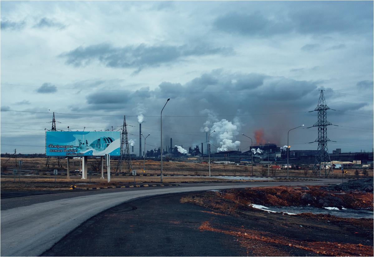Wjazd do Temirtau od strony Astany (obecnie Nur-sułtanu)