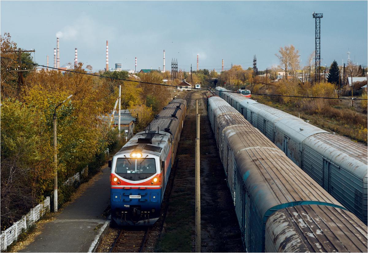 7:20 - pociąg wjeżdża na stację