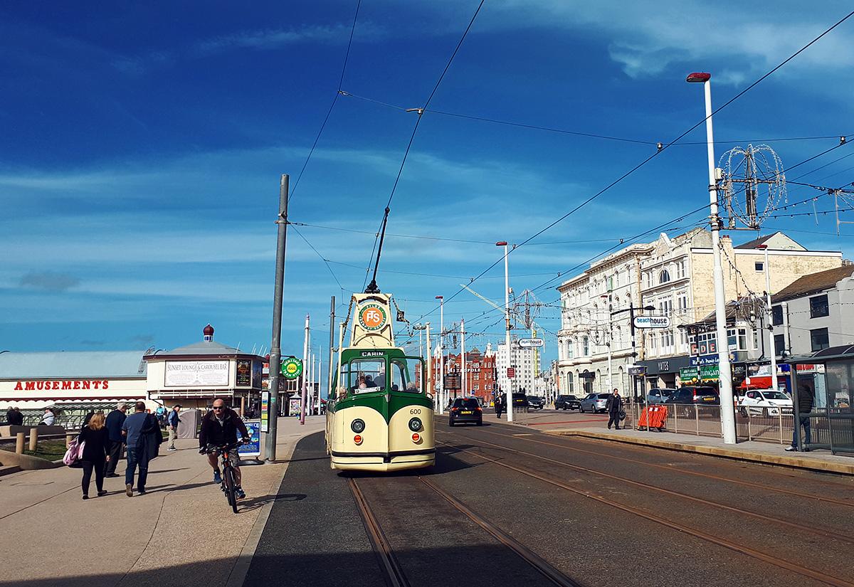 """""""Łódź"""" w centrum Blackpool. Fot. Grzegorz Marzec"""