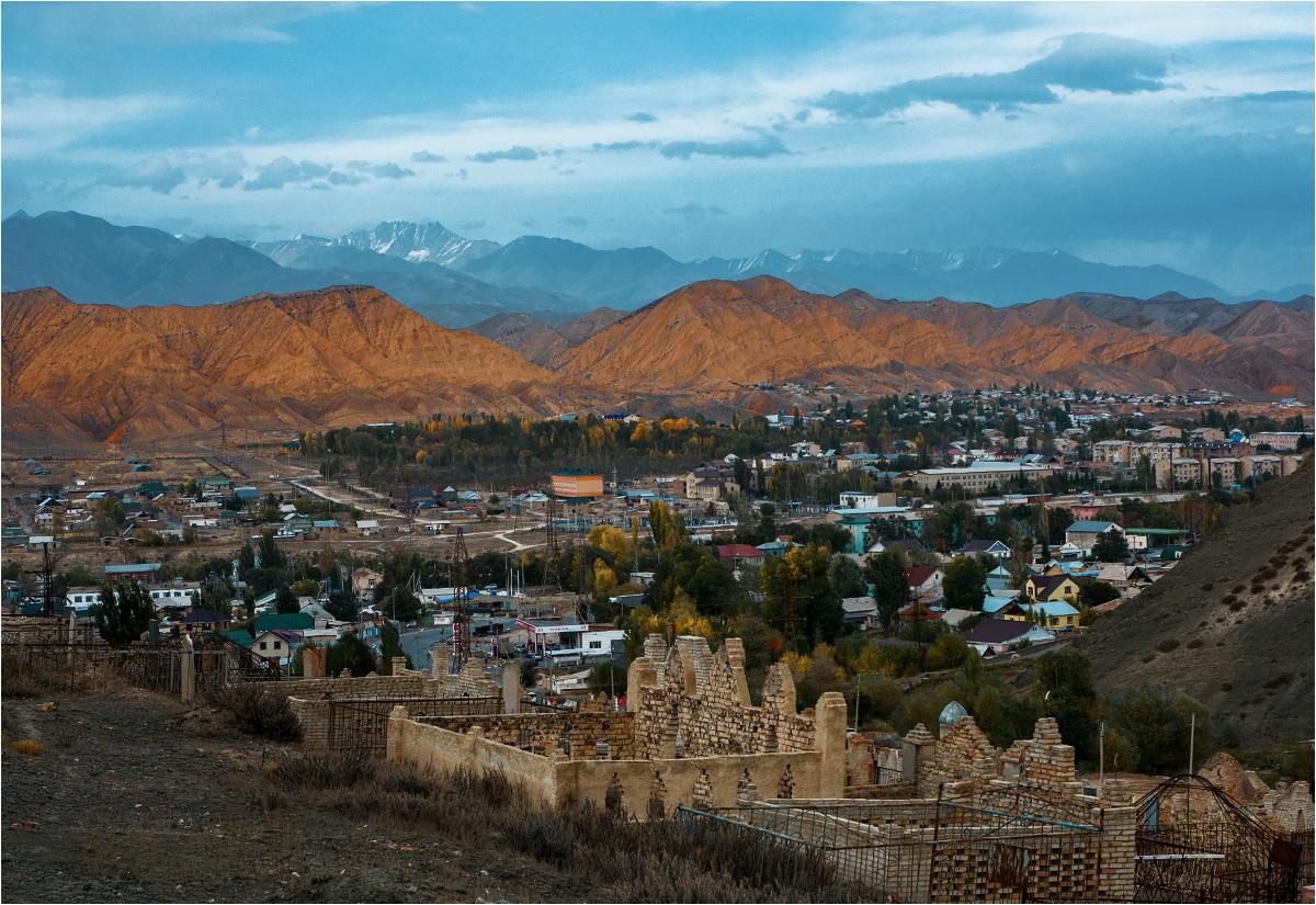 Panorama Naryna widziana z miejscowego cmentarza