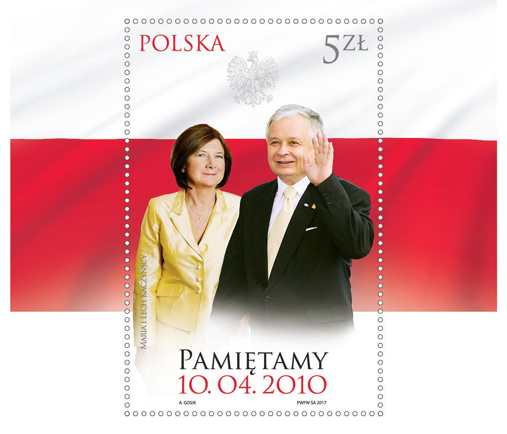 Polski znaczek wydany w siódmą rocznicę katastrofy smoleńskiej. Fot. Poczta Polska