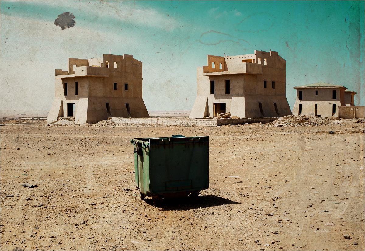 Pejzaż pustynno-śmietnikowy