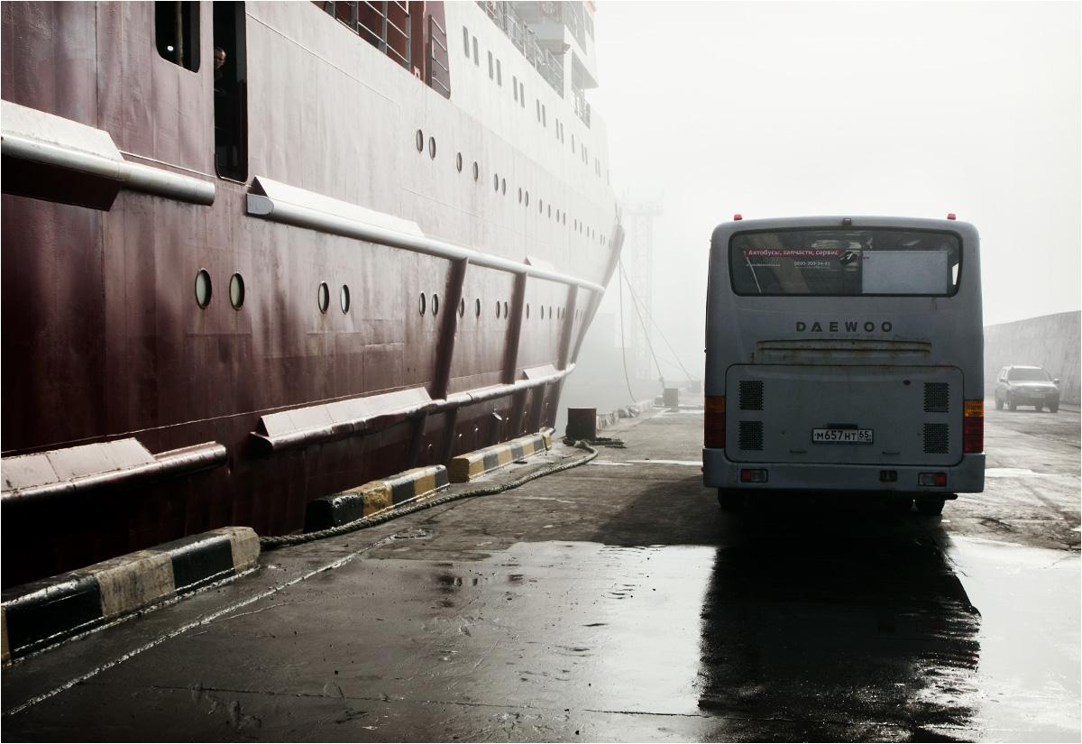 Pożegnanie ze statkiem. Igor Farchutdinow przypłynął do Jużno-Kurylska