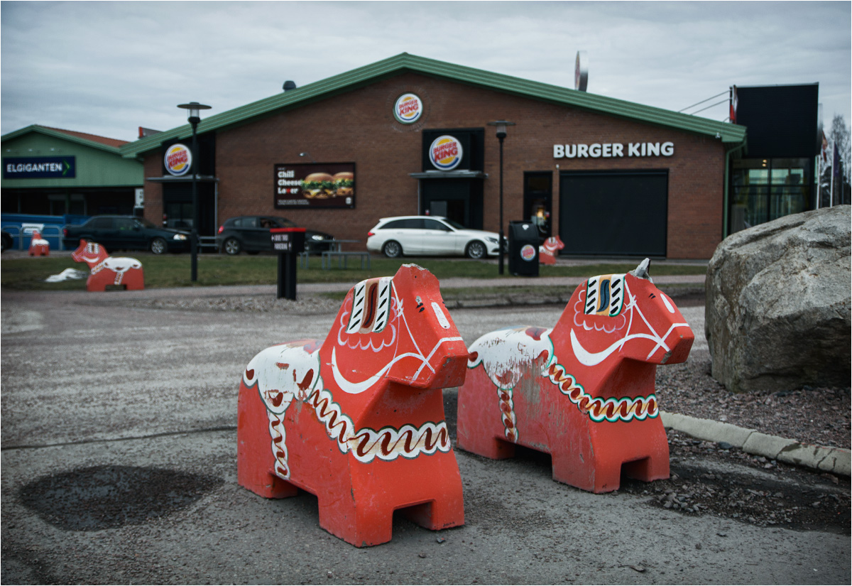 Burger King w miasteczku Avesta. Kiedy to najciekawsza rzecz, jaką widzisz podczas podróży przez kilkaset kilometrów to... nie jest dobrze
