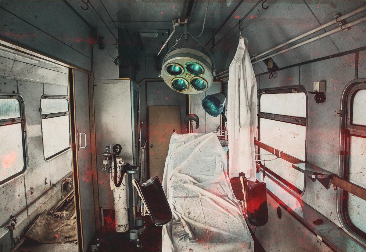Sala operacyjna - najbardziej fotogeniczne miejsce w pociągu szpitalnym