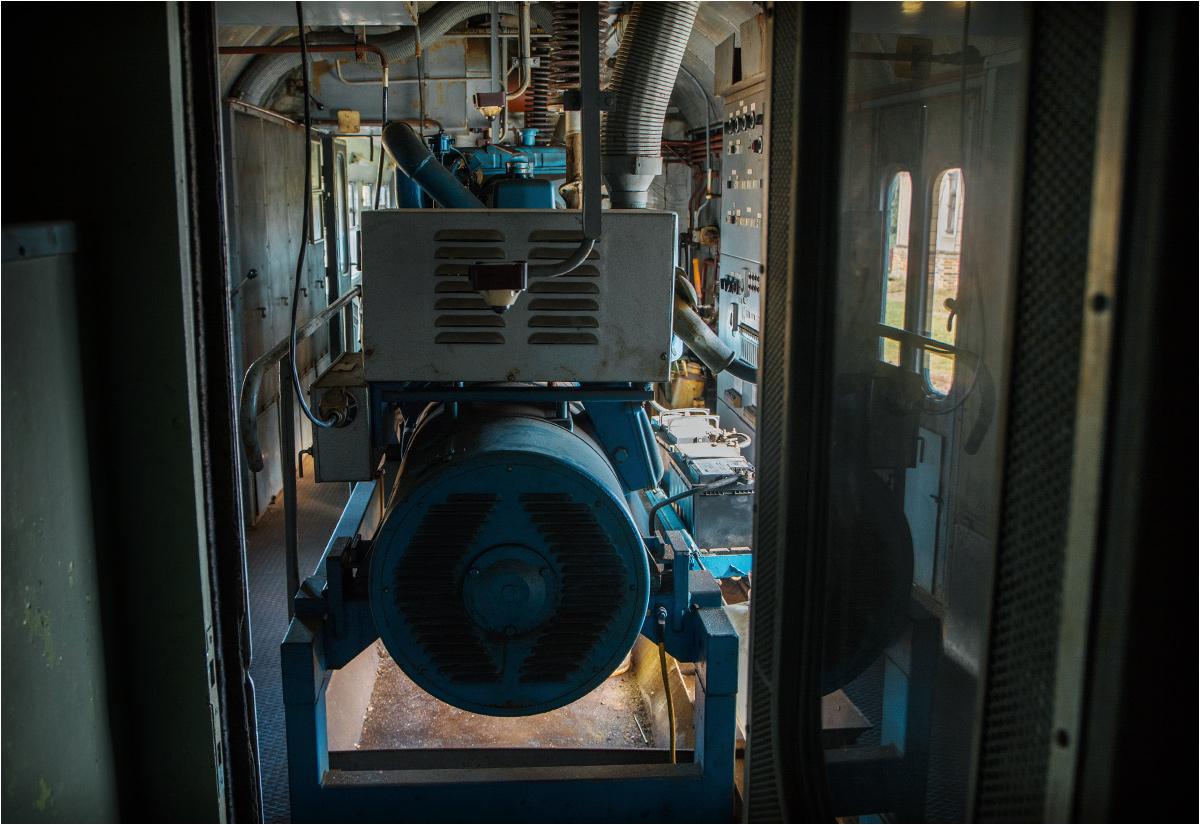 Generator prądu - niezbędna część pociągu medycznego