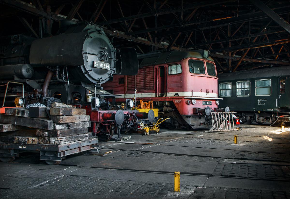 Popularny Gagarin, w Niemczech zwany jako Taigatrommel, w stassfurckiej lokomotywowni