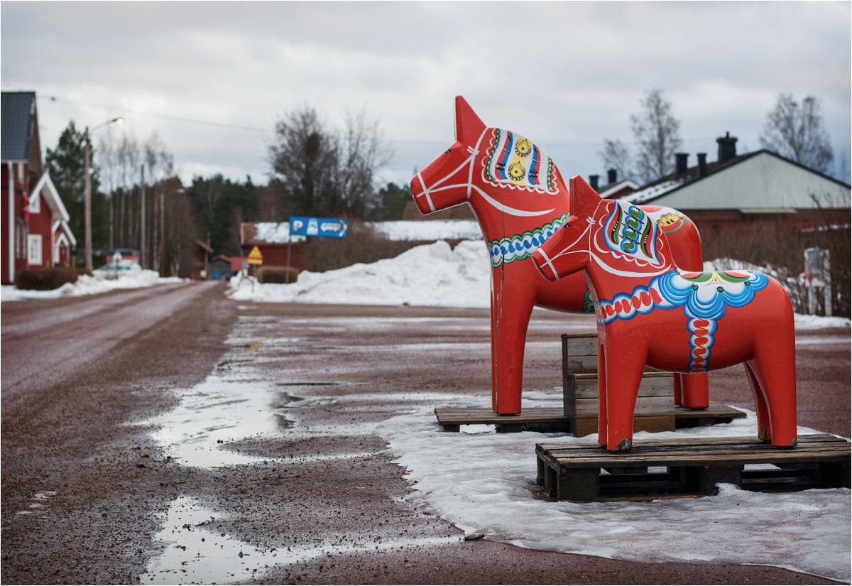 Nusnäs - pejzaż wioski