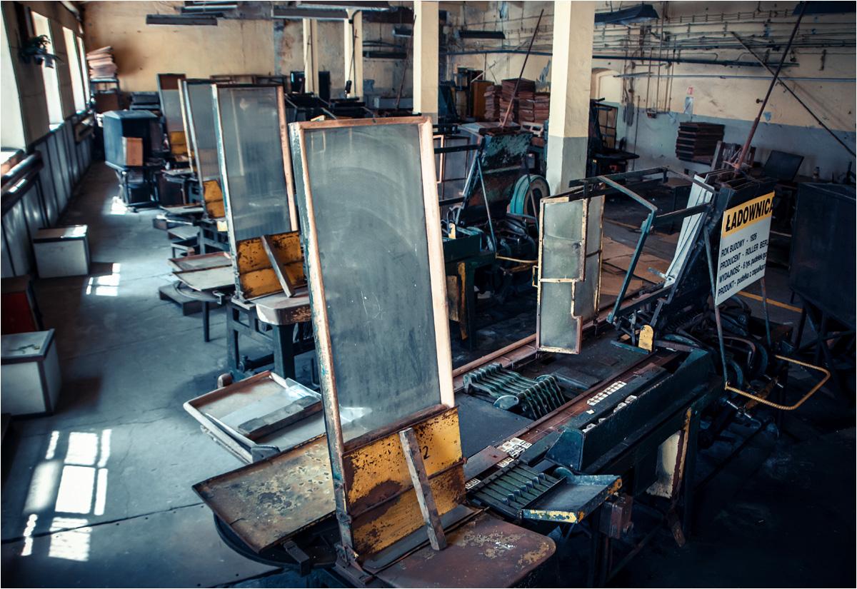 W tej części fabryki pakowano gotowe zapałki do pudełek